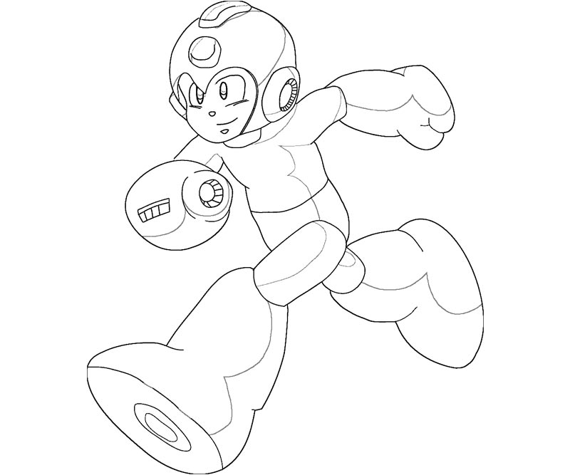 mega man coloring pages free - photo#6