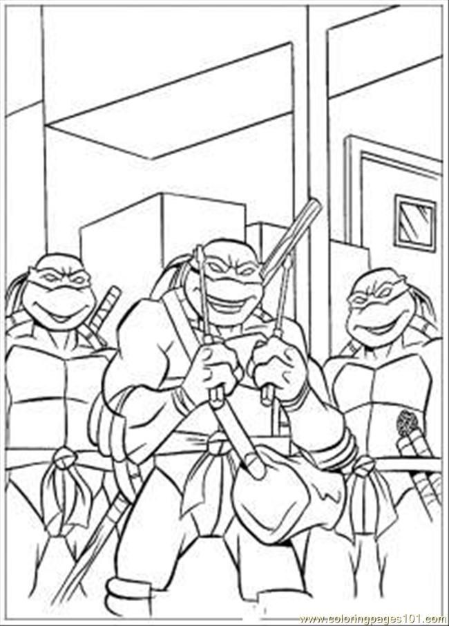 Coloring Ninja Turtle Printables - Kids Colouring Pages