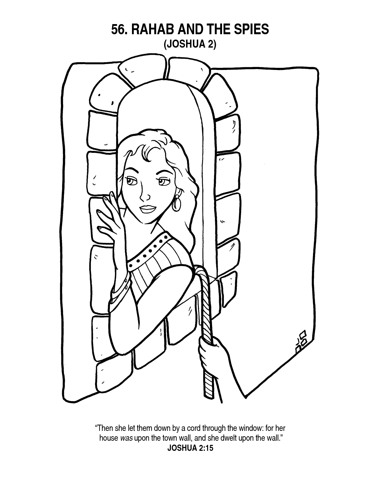 Adult Beauty Rahab Coloring Page Gallery Images best rahab and the spies coloring page az pages gallery images