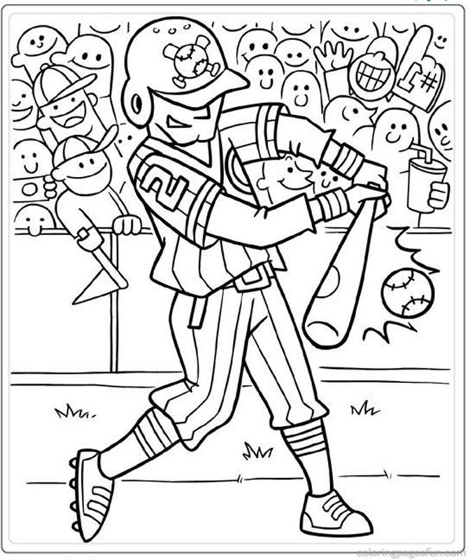 Free baseball coloring pages coloring home for Baseball coloring pages for kids