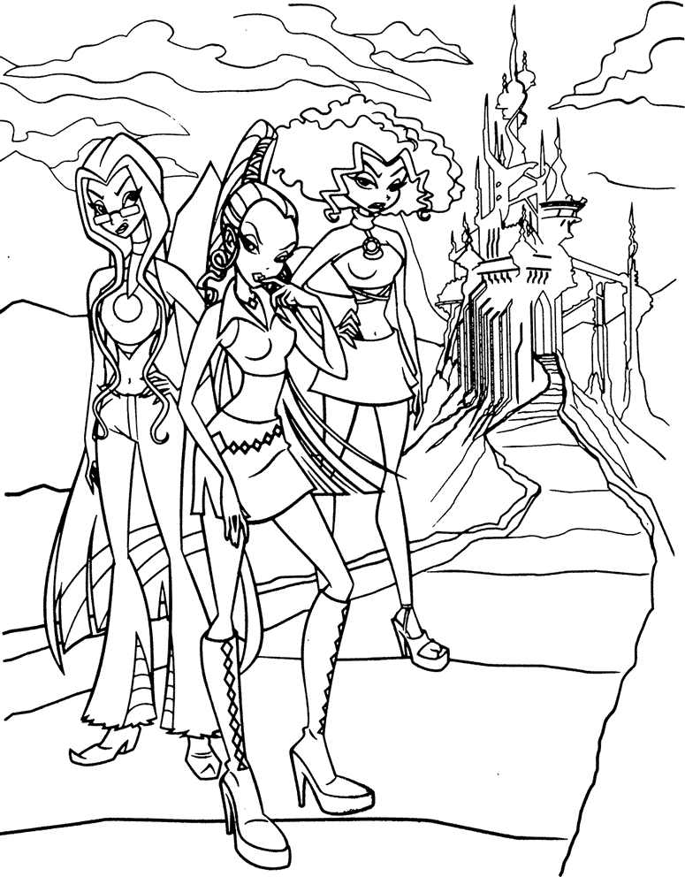 Winx Club Sfrig Colouring Pages Page 2