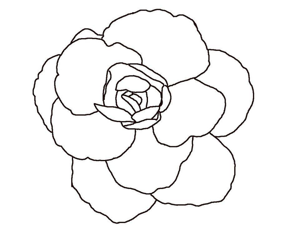 Flower Line Art Images: Simple Flower Outline