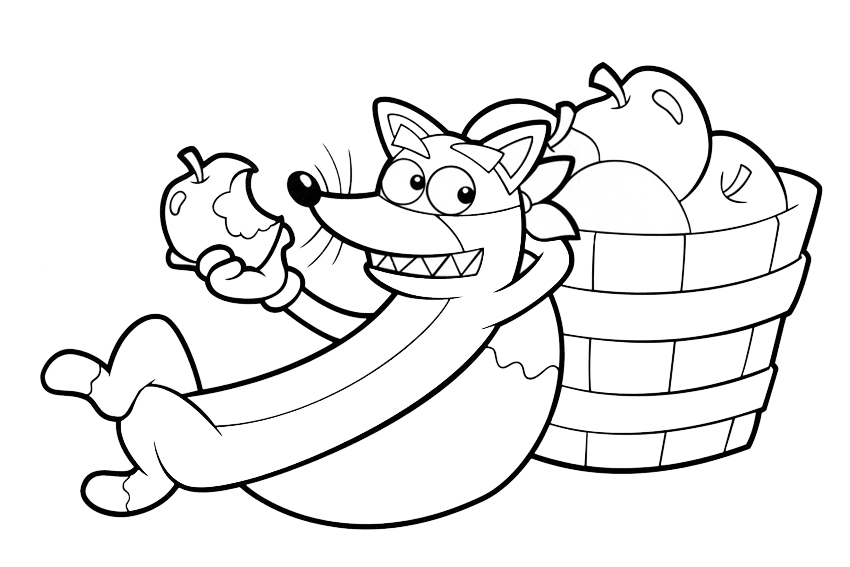 swiper the fox coloring pages - photo#3