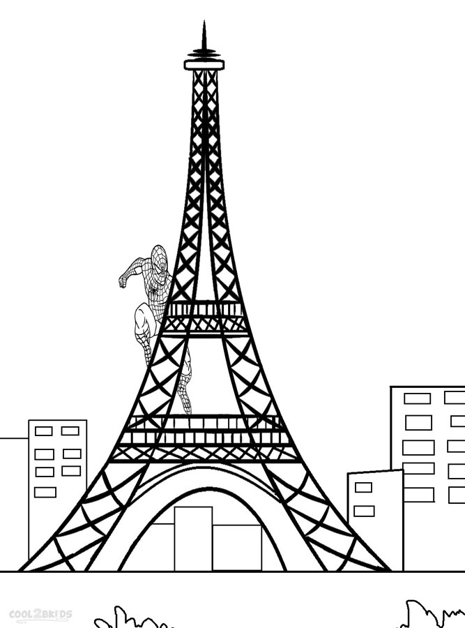 Eiffel Tower Coloring Page Az Coloring Pages Towers Coloring Page