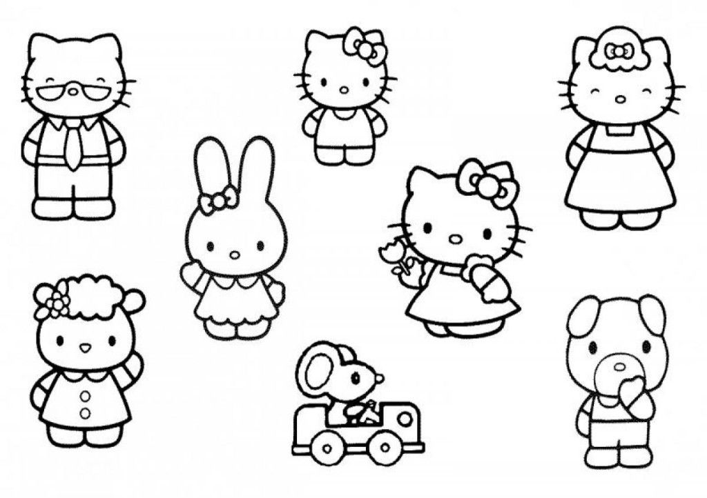 Free Hello Kitty Friends Coloring Pages
