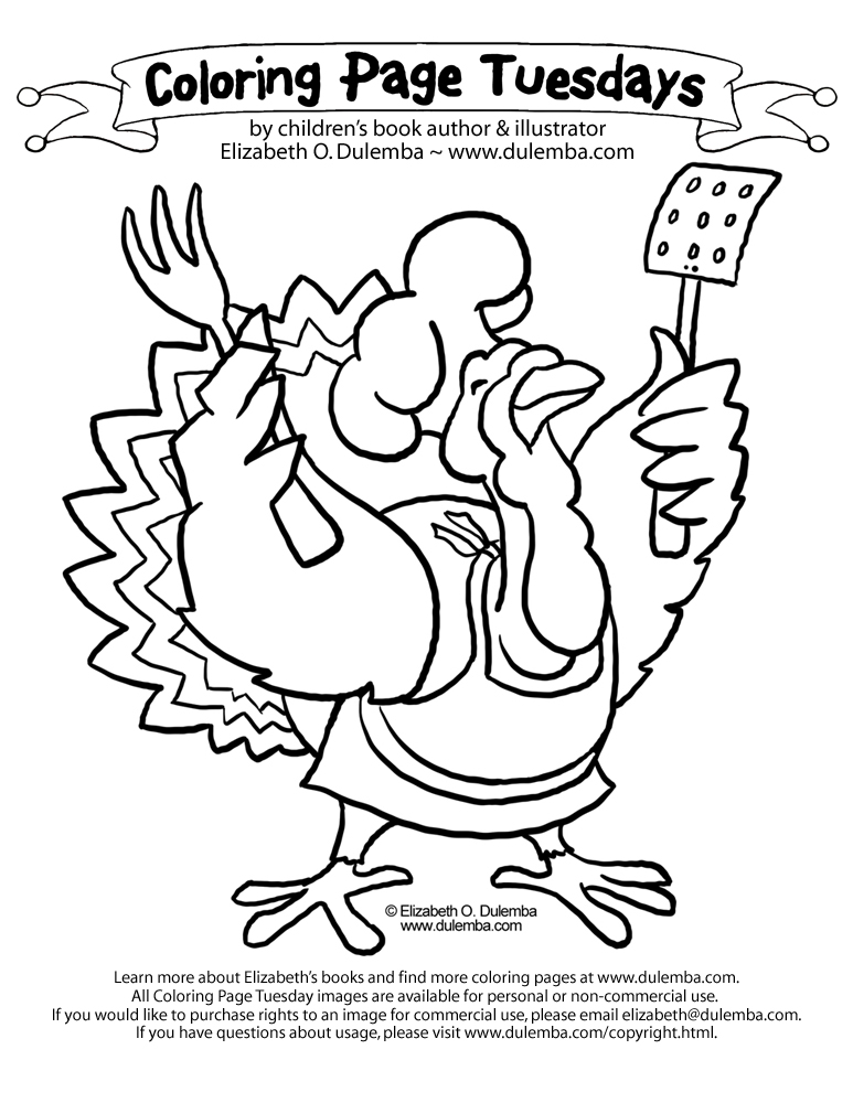 dulemba: Coloring Page Tuesday! - Turkey Chef