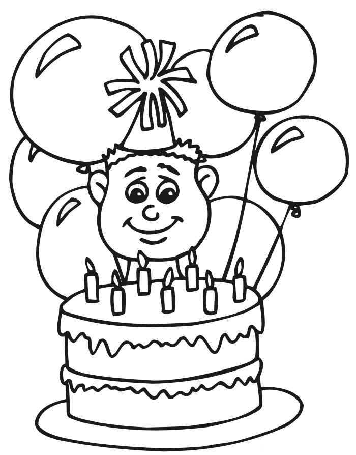 Картинки раскраски с днём рождения мальчику