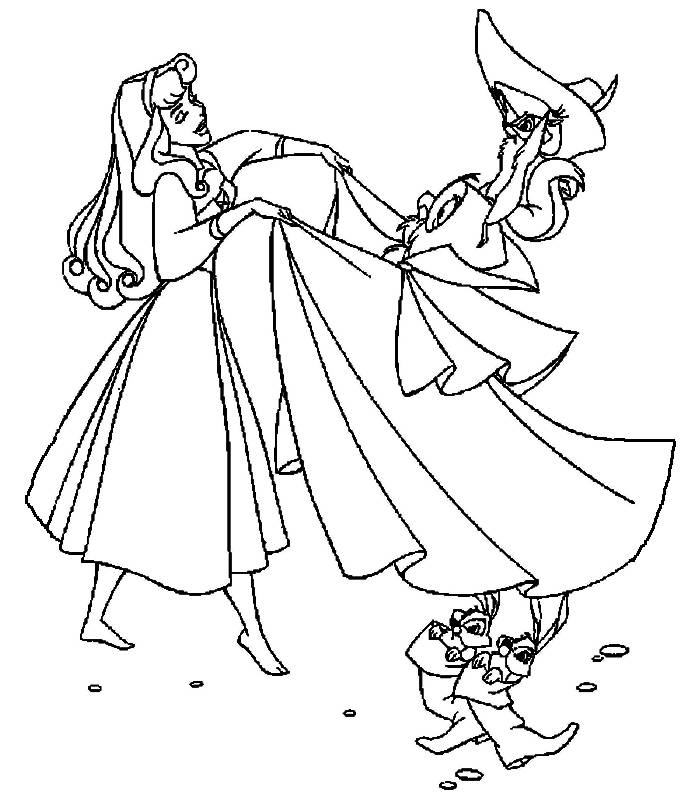 Coloring pages the sleeping beauty - picture 15
