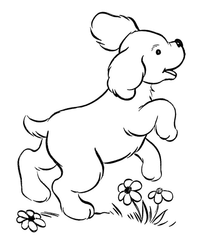 cute puppy coloring pages images - photo#20