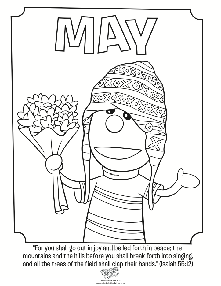 May coloring page coloring home for May coloring pages