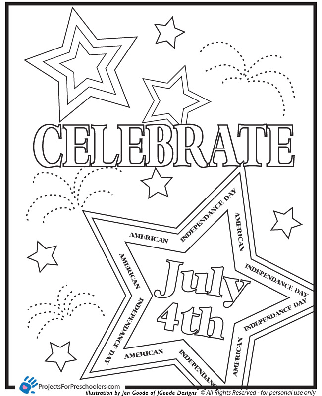 July Coloring Pages