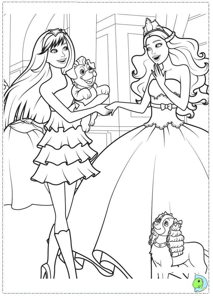 Real Princess Coloring Pages : Princess barbie coloring page az pages
