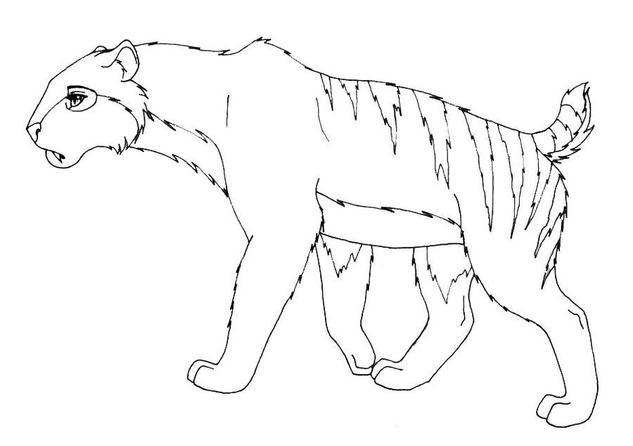 sabertooth tiger coloring pages - photo#27