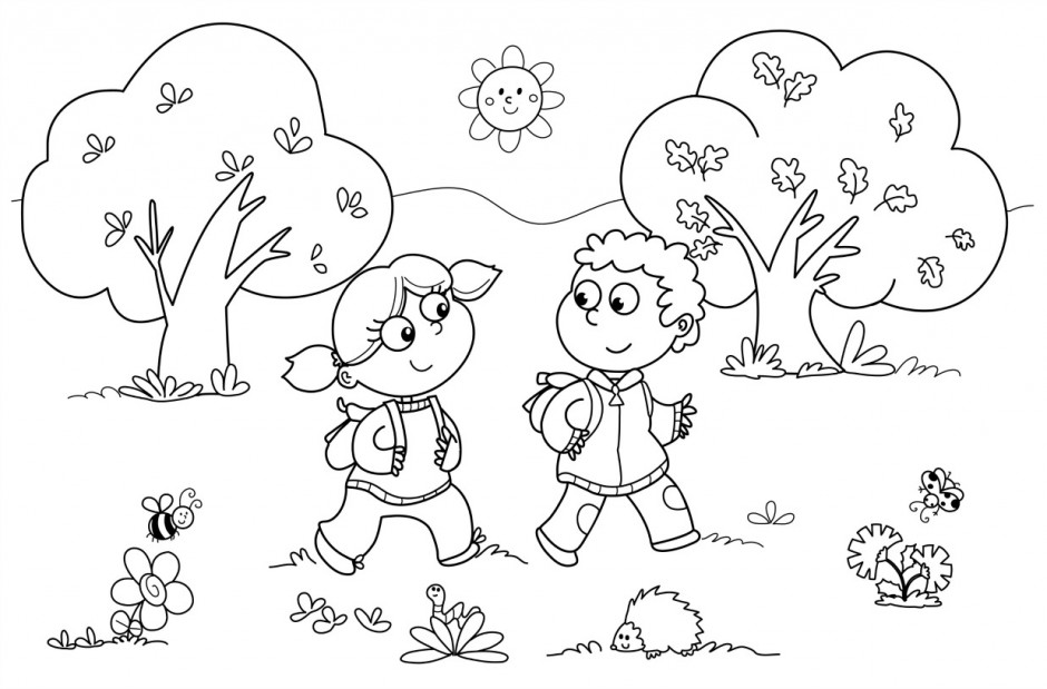 Coloring Pages For First Day Of Kindergarten : First day of kindergarten coloring pages az