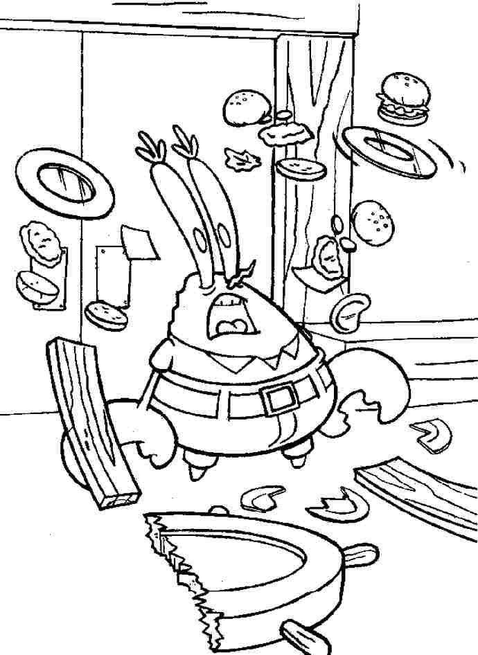 Mr Krabs Coloring Page Coloring