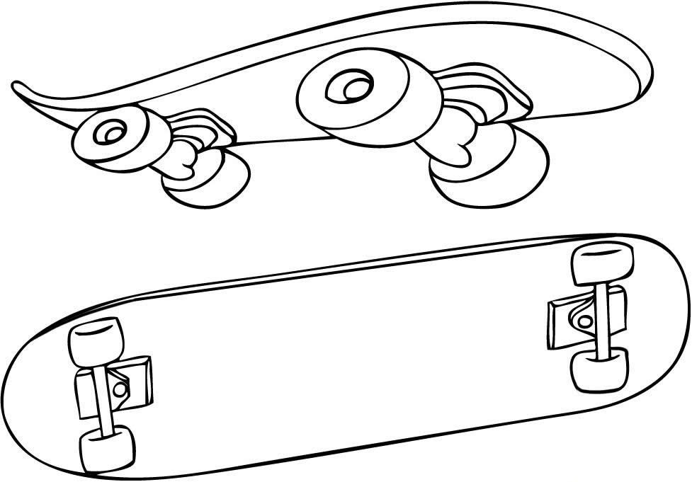 skateboard coloring pages online - photo#28