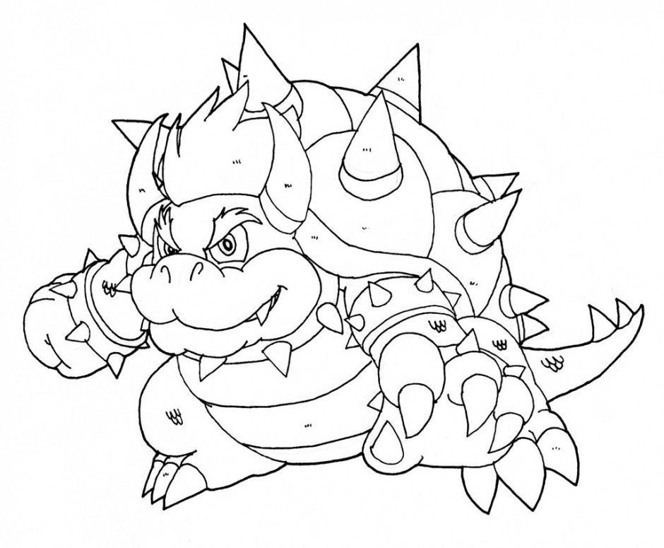 Super Mario Bowser Coloring Pages To Print 206609 Bowser Coloring ...