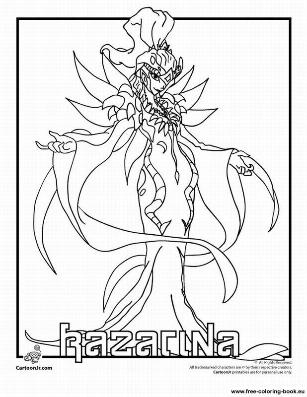 Coloring pages Bakugan Battle Brawlers - Printable Coloring Pages