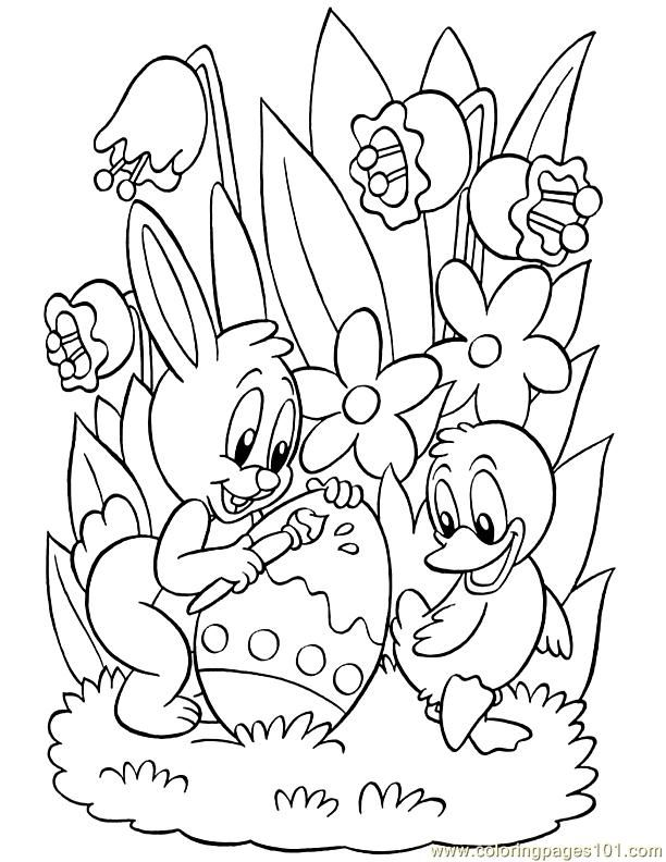 free easter color pages az coloring pages