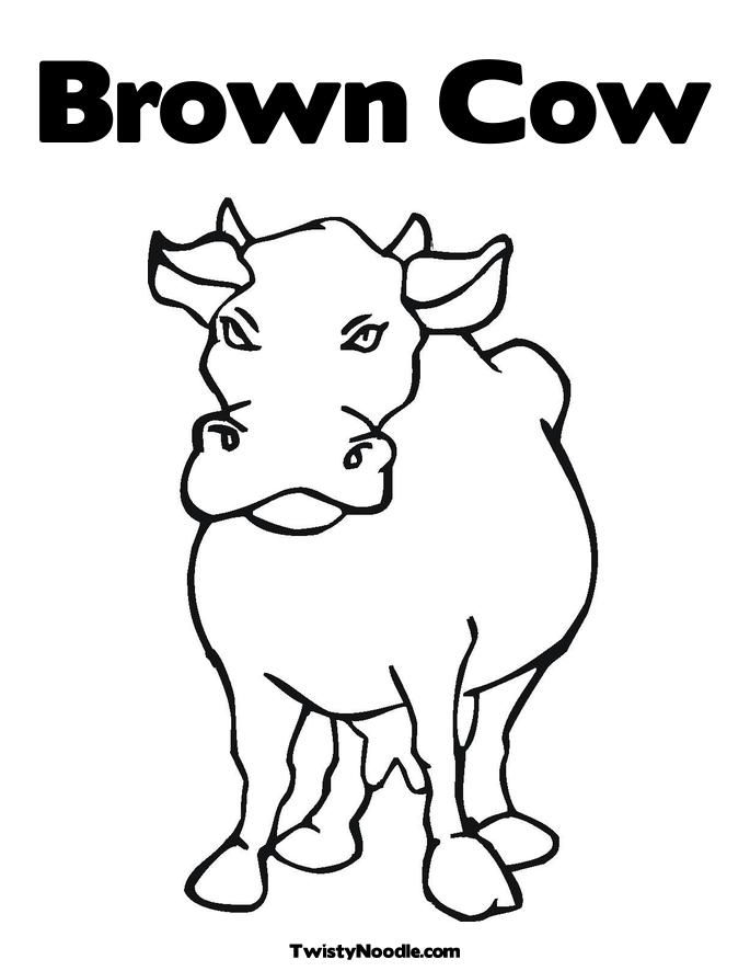 funny cow coloring pages - photo#37