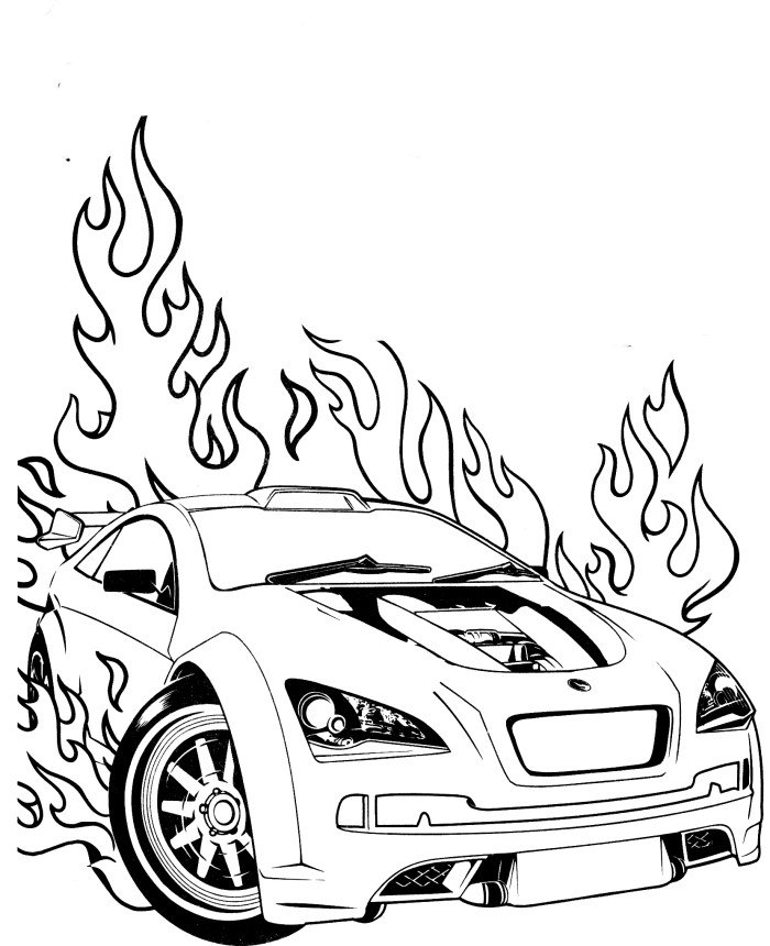 hot wheel coloring pages - photo#14