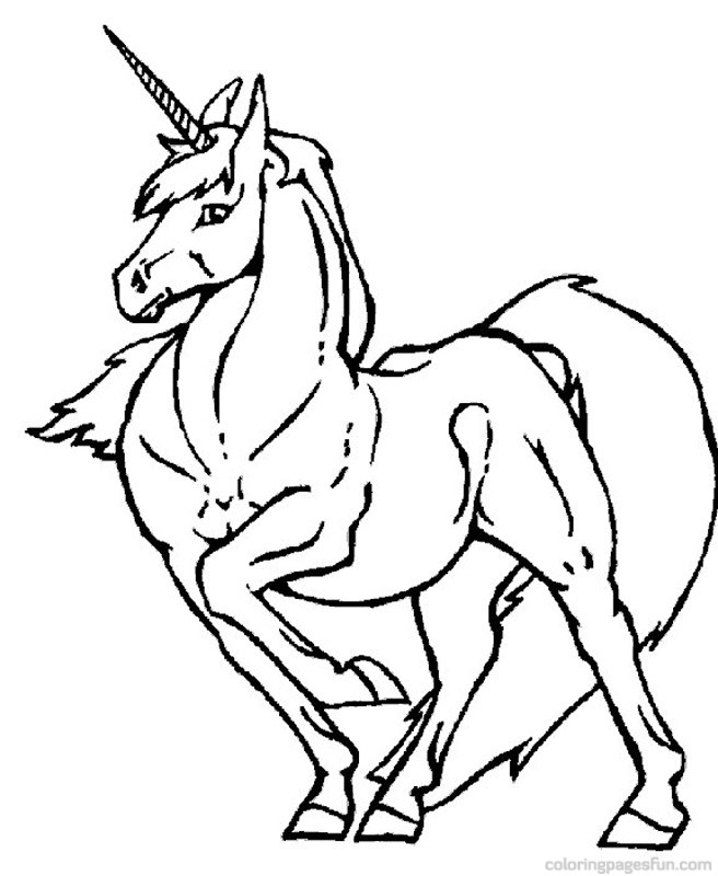 Coloring Pages Unicorn Free :