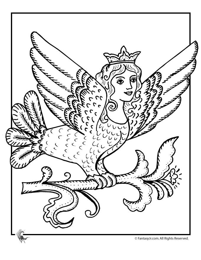 Fairy princess coloring page az coloring pages for Mermaid fairy princess coloring pages