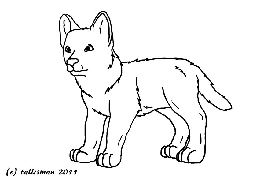 free wolf pup coloring pages - photo#1