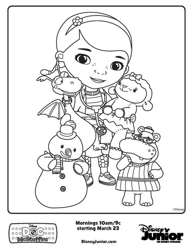 Doc Mcstuffins Halloween Coloring Pages  Coloring Pages For Kids