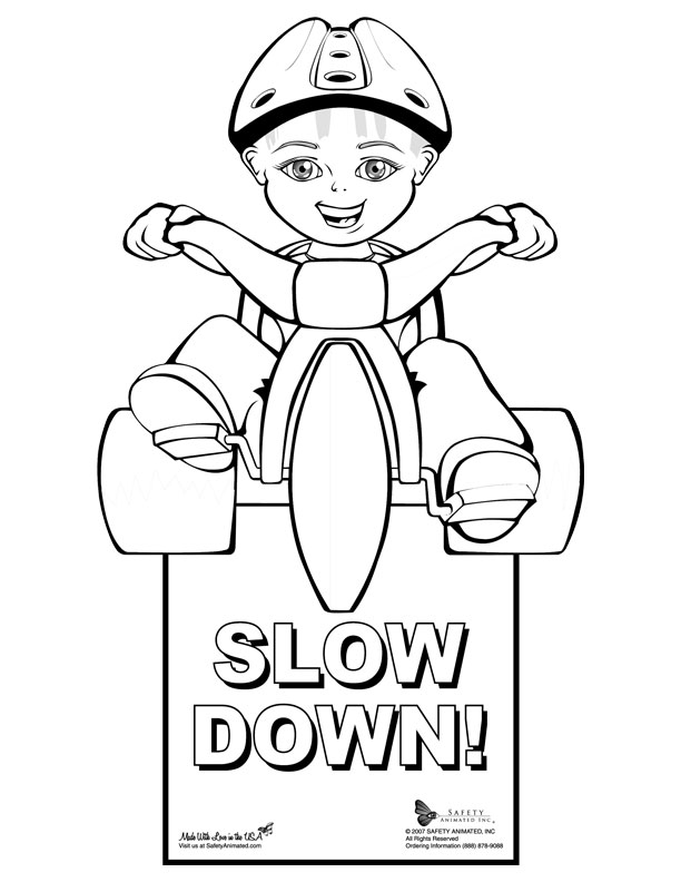 safety signs coloring pages - photo #15