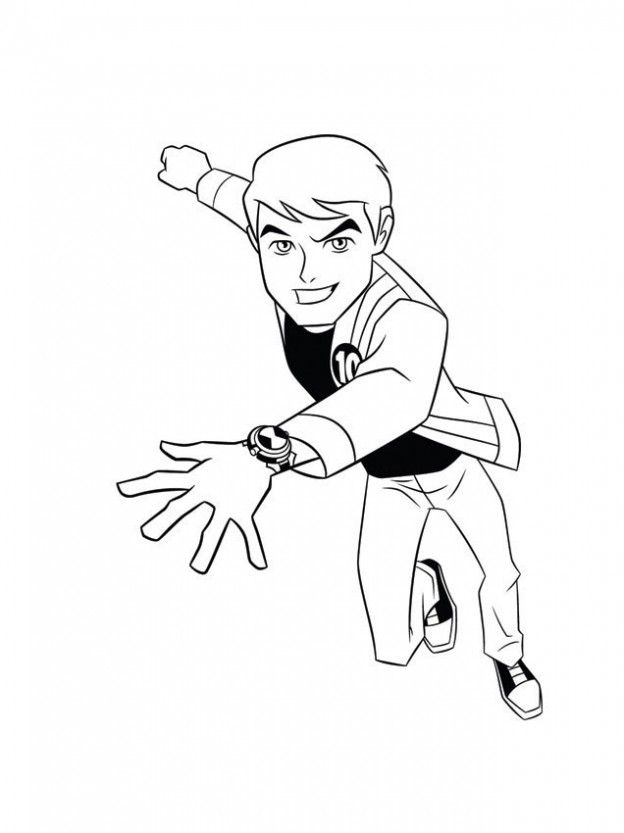 Ben 10 Alien Force Colouring Pages To Print - Coloring Home