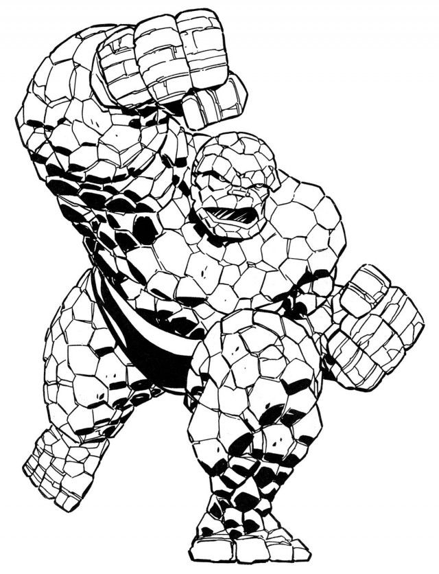 Superhero Thanos Coloring Pages: Marvel Superhero Squad Coloring Pages