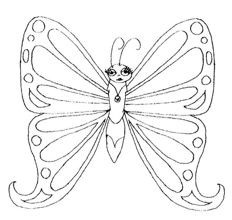coloring pages painted lady butterfly - photo#7