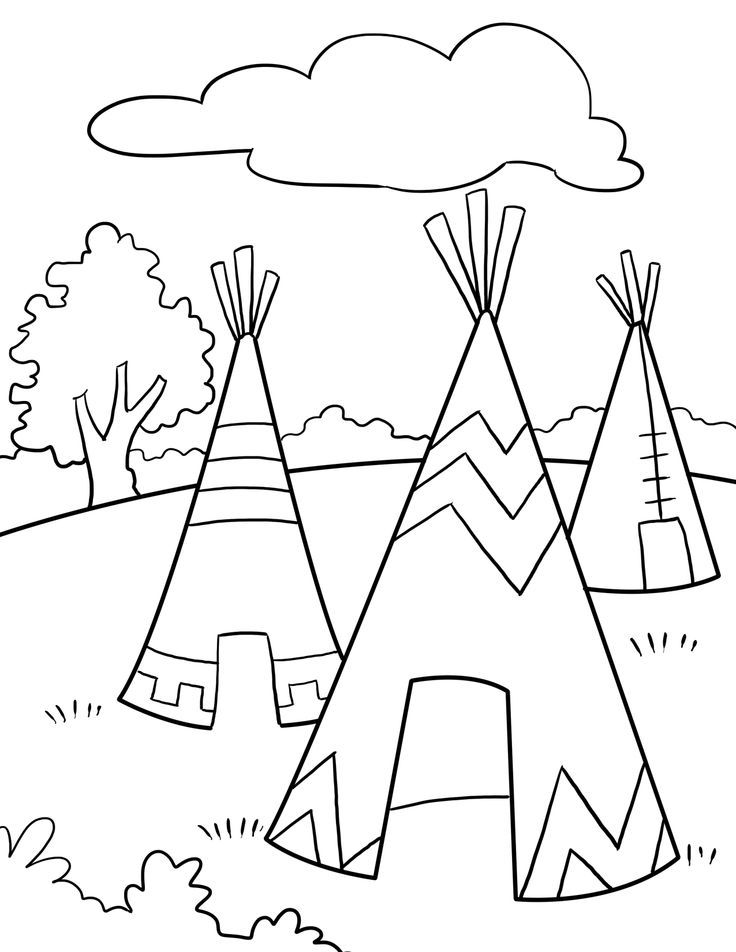 kids teepee coloring pages - photo#7