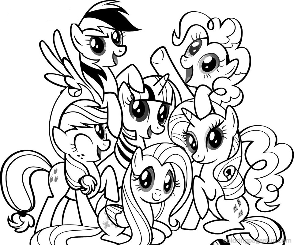 My Little Pony Sign Coloring Pages : My little pony coloring book pages az