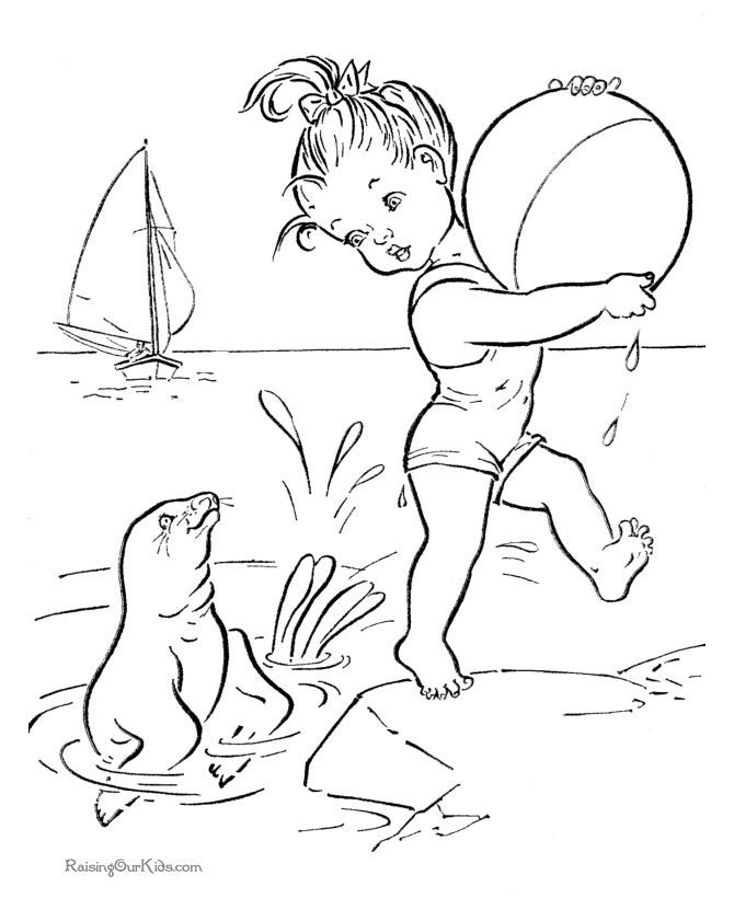 Beach Ball Coloring Pages 131Free For Kids