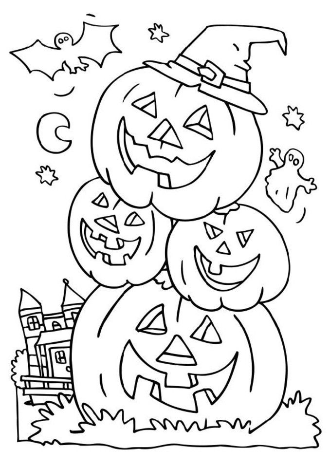 hard free halloween coloring pages - photo#16