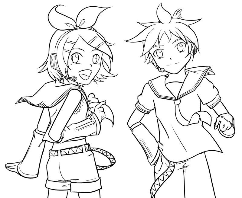 Vocaloid Coloring Pages - Coloring Home