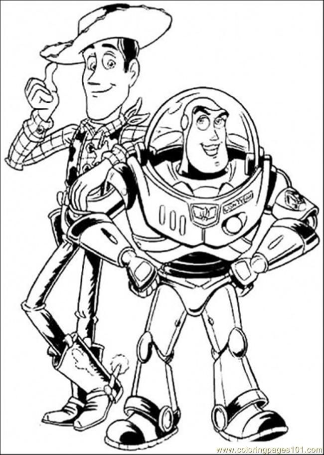 Woody Buzz Lightyear Colouring Pages