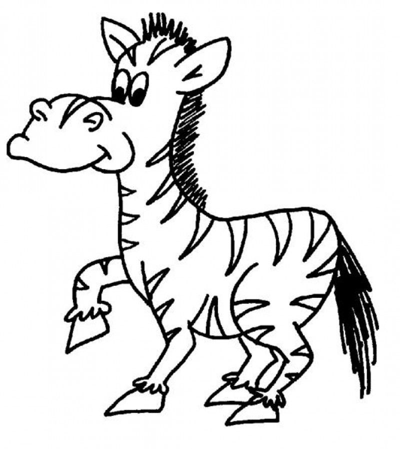 Cute Zebra Coloring Pages Coloring