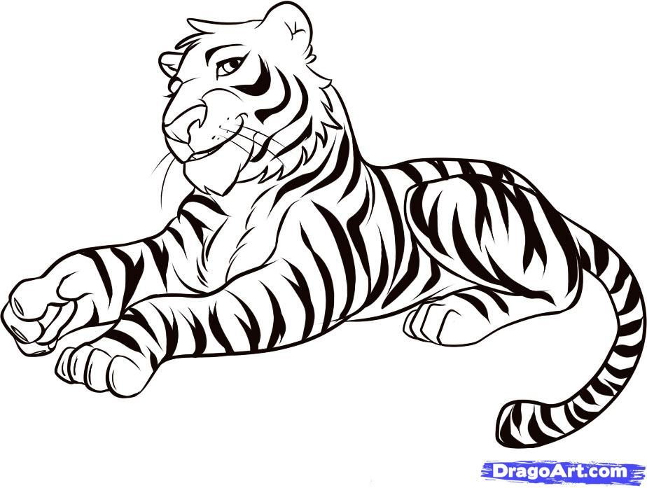 Cartoon Tiger Picture - Coloring Home