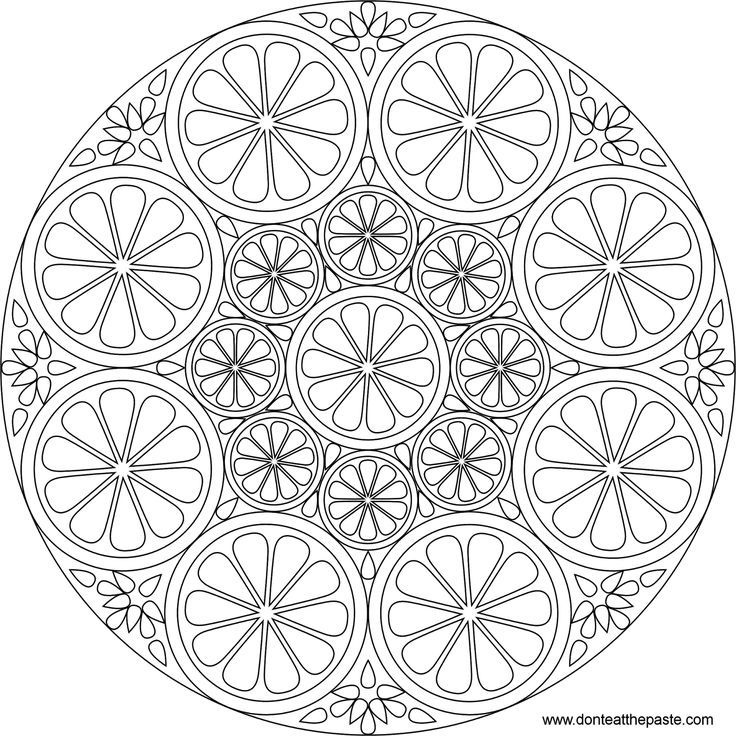 difficult mandala coloring pages - photo#3
