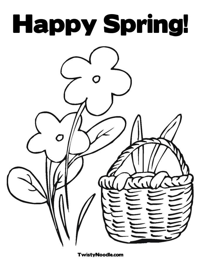 spring kindergarten coloring pages - photo#26