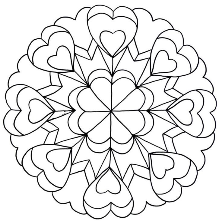 Mandala Coloring Pages For Teenagers