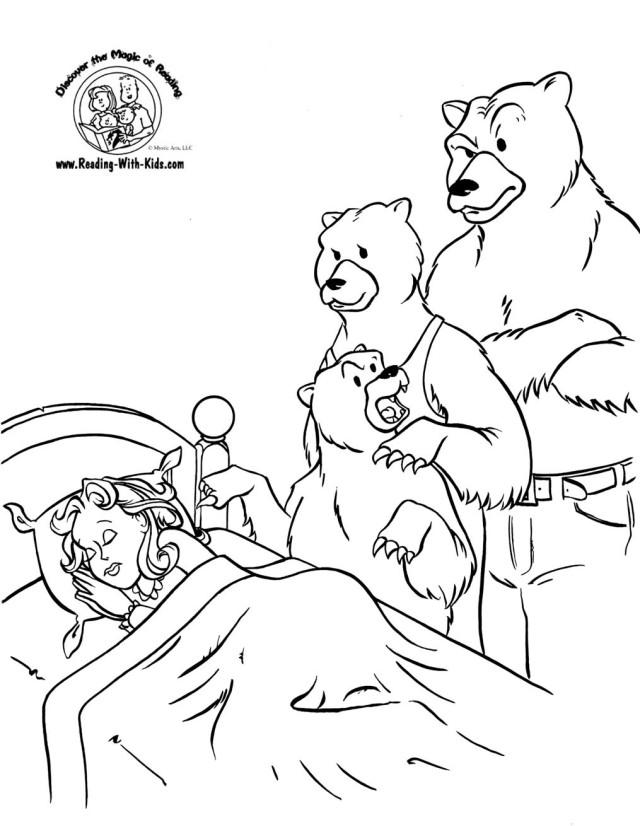 Goldilocks And The Three Bears Coloring Page - AZ Coloring ...