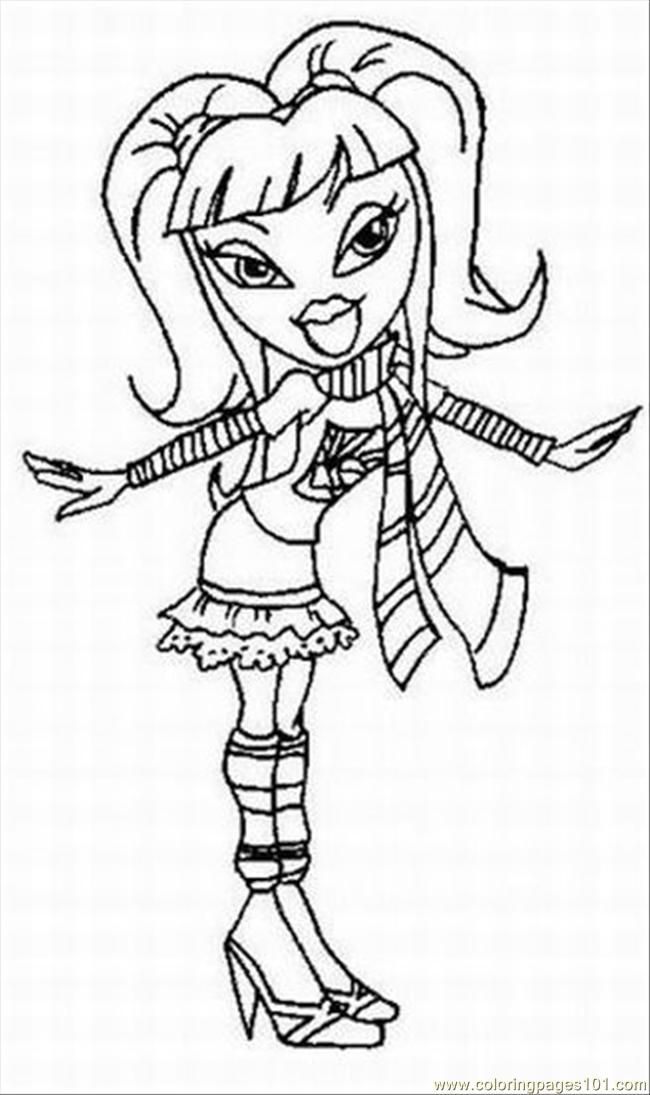 Bratz Coloring Pages Pdf : Coloring pages bratslrg cartoons gt bratz free