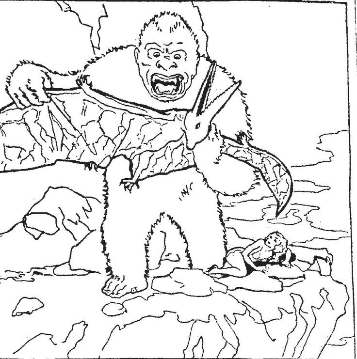 King Kong Coloring Pages Az Coloring Pages Kong Coloring Pages To Print