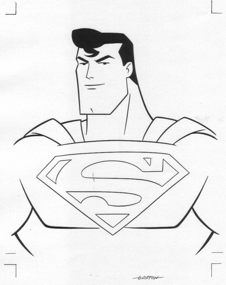 superman cartoon coloring pages - photo#32