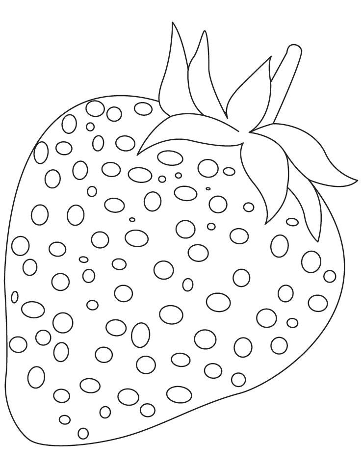 Preschool Fruit Coloring Pages - AZ Coloring Pages