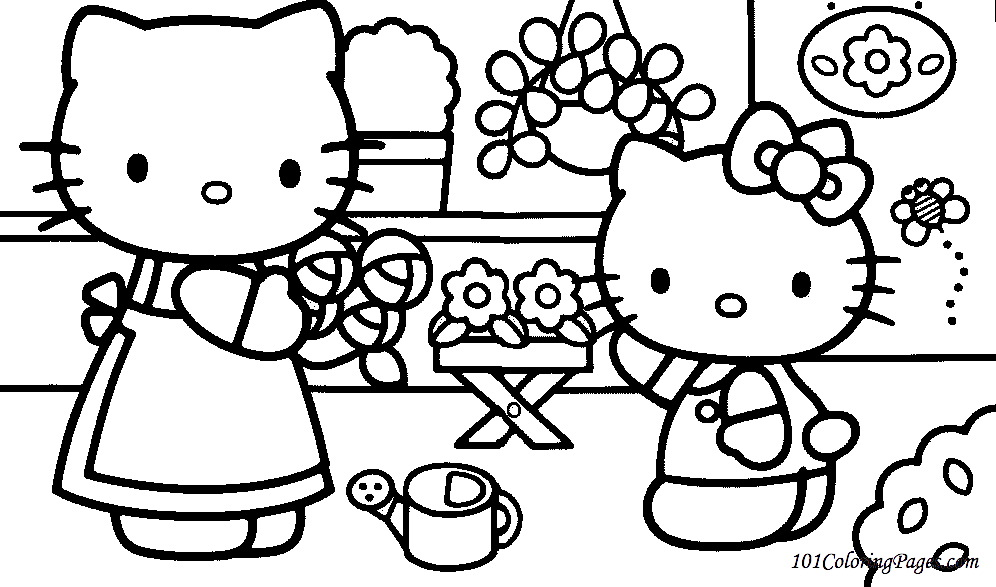 Hello Kitty Coloring Pages Roll : Hello kitty coloring pages to color online az
